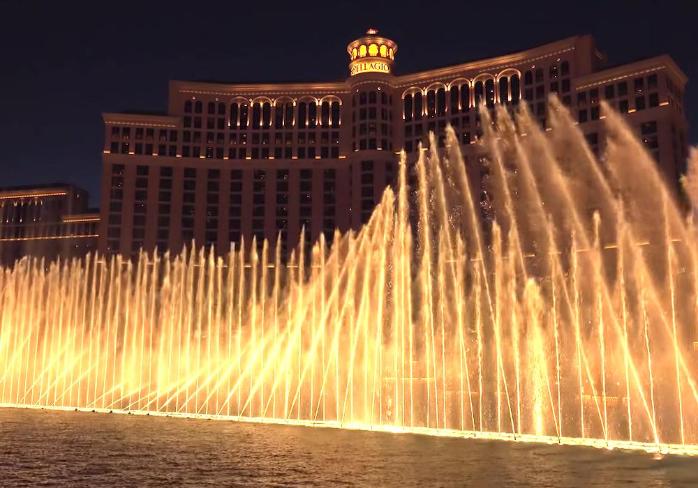 ベラージオホテル名物の噴水ショー