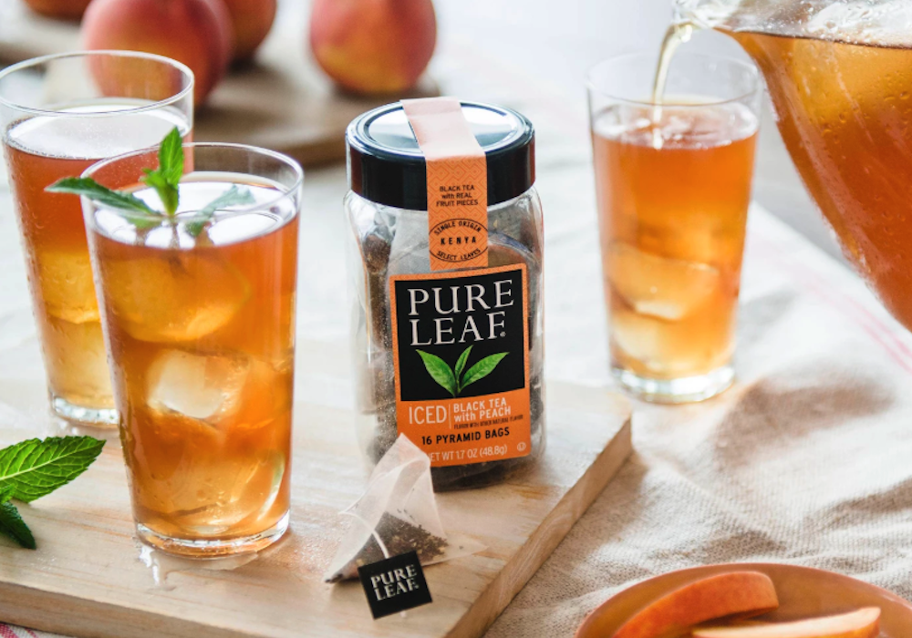 Pure Leaf Iced Black Tea with Peach Tea Bag