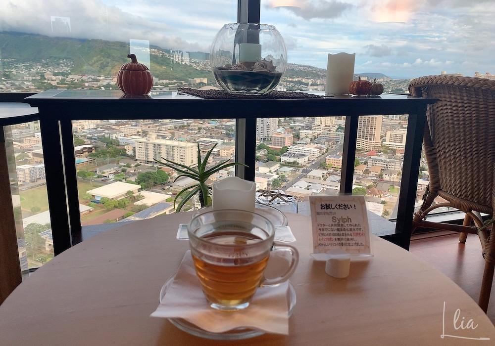 Kuubハワイでマッサージ後にティーを頂きました。