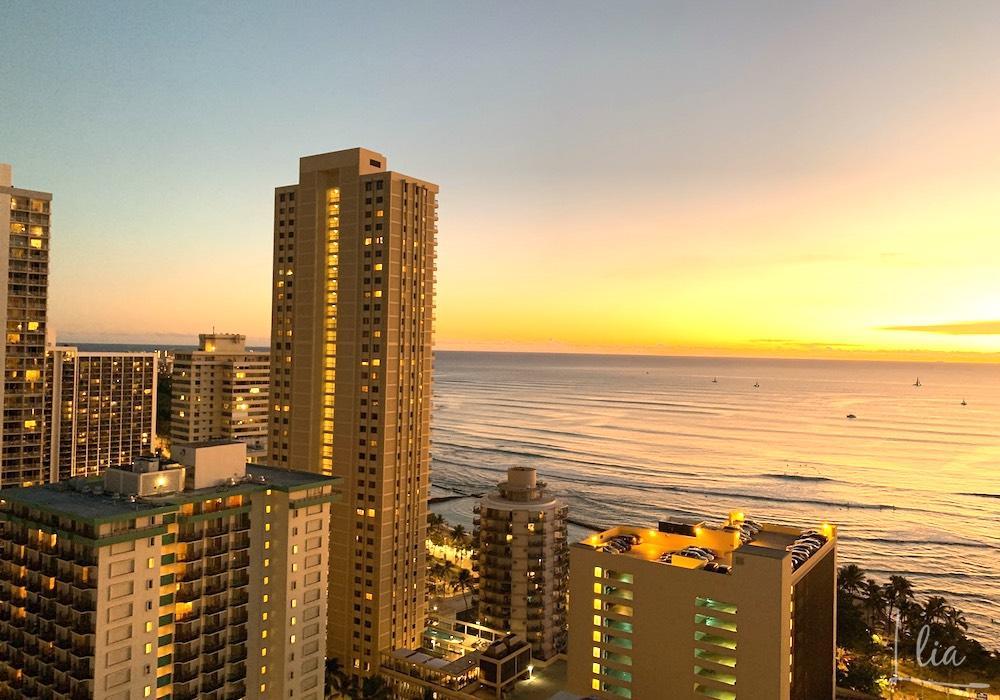 ハワイのコンドミニアムパシフィックモナークから眺められる景色