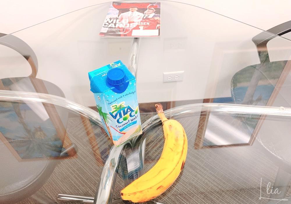IIE初日の朝はバナナをもぐもぐ