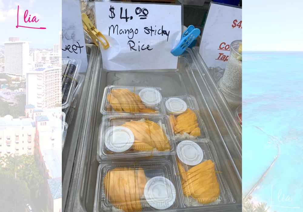 IIEのファーマーズマーケットでマンゴーを購入